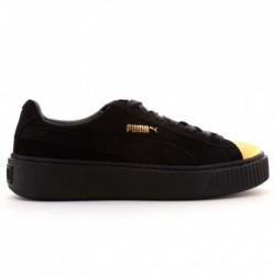 ZAPATILLAS DE MODA PUMA SUEDE PLATAFORM GOLD BLACK