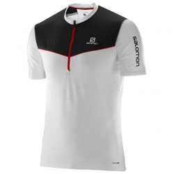 Salomon camiseta Fast Wing HZ SS Tee White