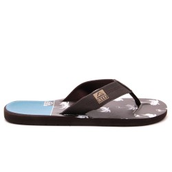 REEF HT PRINTS BROWN/BLUE PALM