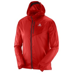 CHAQUETA SALOMON FAST WING HOODIE RED