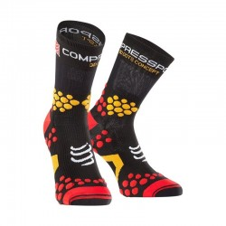 CALCETIN COMPRESSPORT TRAIL 2.1 N/ROJO