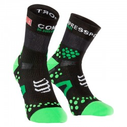 COMPRESSPORT CALCETIN RUN HIGH 2.1 N/VERDE