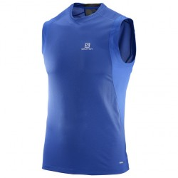Camiseta Salomon trail runner sleeveless tee Surf L39259800