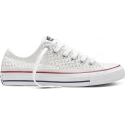 CONVERSE OX WHITE /WHITE / BLACK