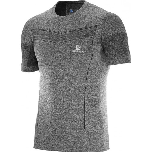 Camiseta Salomon Pulse Seamless SS Tee M Gris L39315700