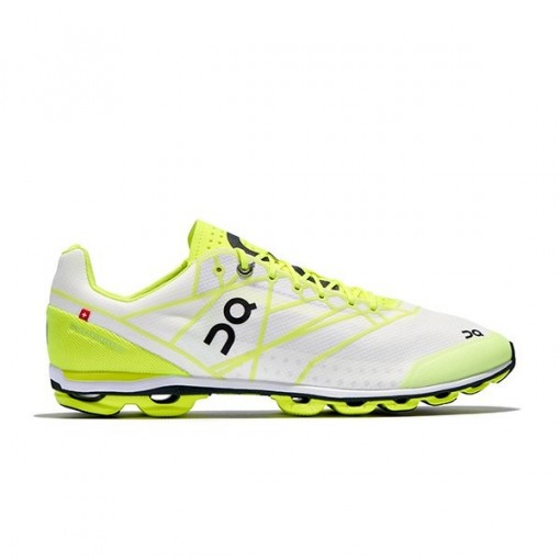 Zapatillas Running ON Cloudflash Neon/White
