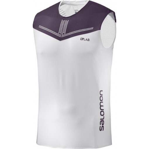 Camiseta Salomon S-Lab Sense Tank M White/Maverick