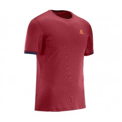 SALOMON CAMISETA AGILE SS TEE M Red