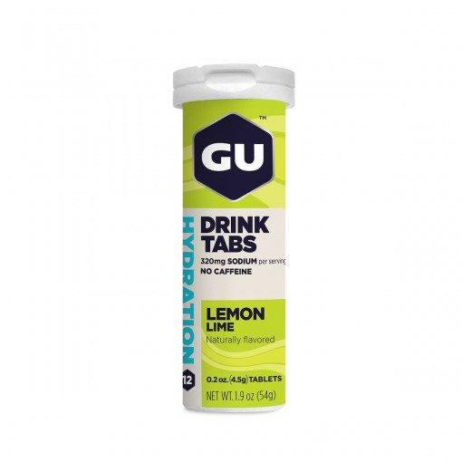 GU Energy Drinks Tabs Lemon Lime Tubo 12uds