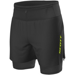 Scott Pantalon Corto Hybrid RC Run Black/Yellow