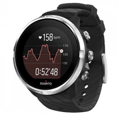 Suunto 9 Black + Black Leather Strap