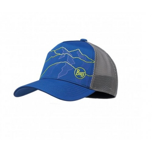 BUFF Trucker Tech Cap Solid Cape Blue