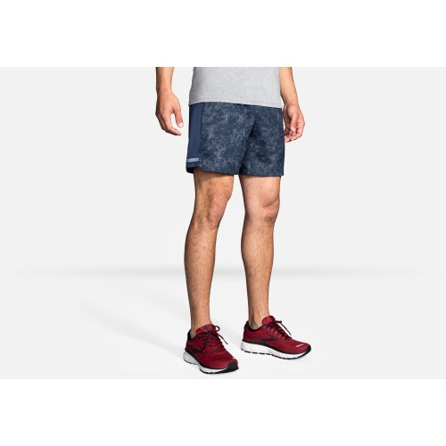 "Brooks Sherpa 5"" Short Indigo Mineral"