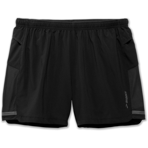 "Brooks Sherpa 5"" Short Black"