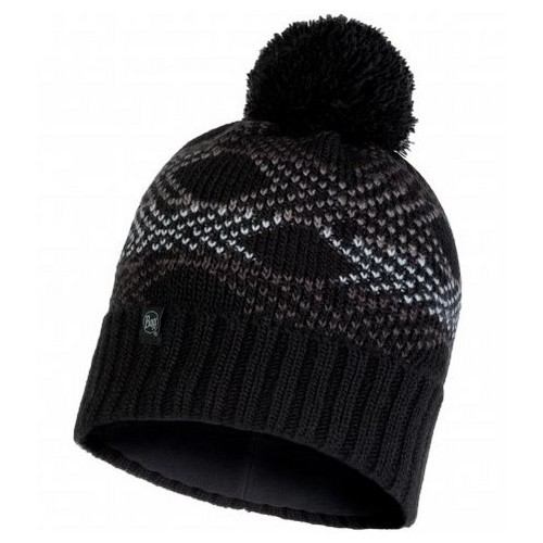 Buff Gorro Knitted & Polar Garid Black