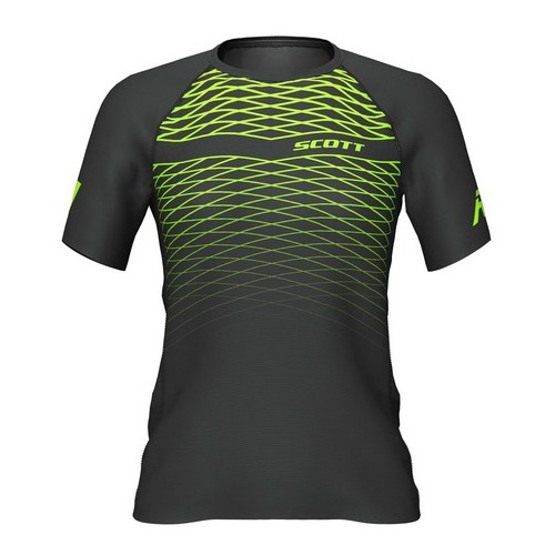 Scott Camiseta RC Run m/c W Black/Yellow