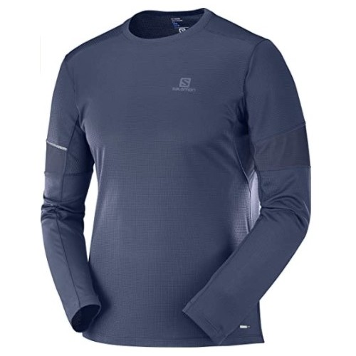 Salomon Camiseta m/l Agile Tee M Night Sky