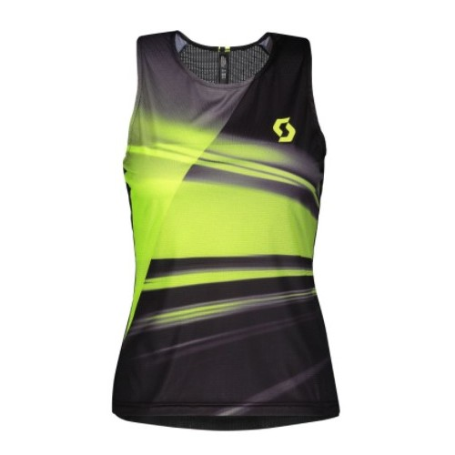 Scott camiseta Tank WS RC Run Black/Yellow
