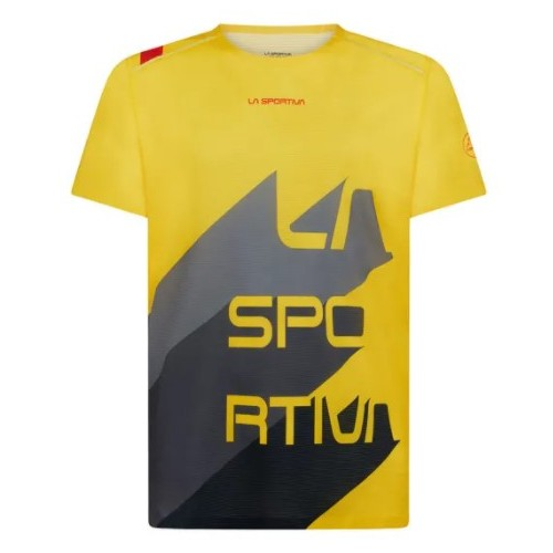 La Sportiva camiseta Stream M Yellow/Carbon