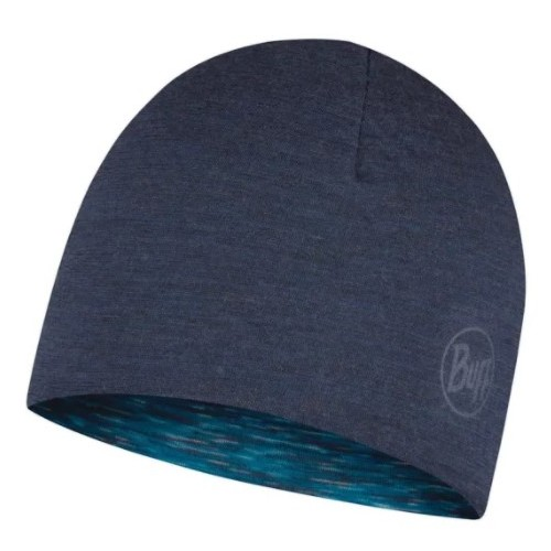 Buff Gorro Lightweight Merino Wool Rever. Kids Hat Denim