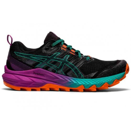 Asics Gel Trabuco 9 Mujer 1012A904-002 Negro/Verde