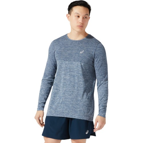 Asics camiseta m/l Race Seamless LS 2011A782-401 Hombre French Blue