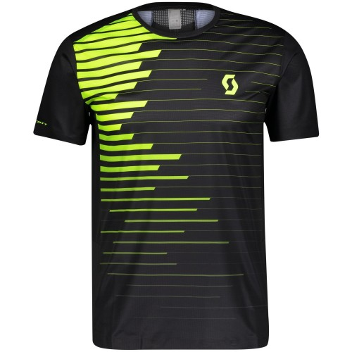 Scott camiseta m/c MS RC Run Black/Yellow Hombre
