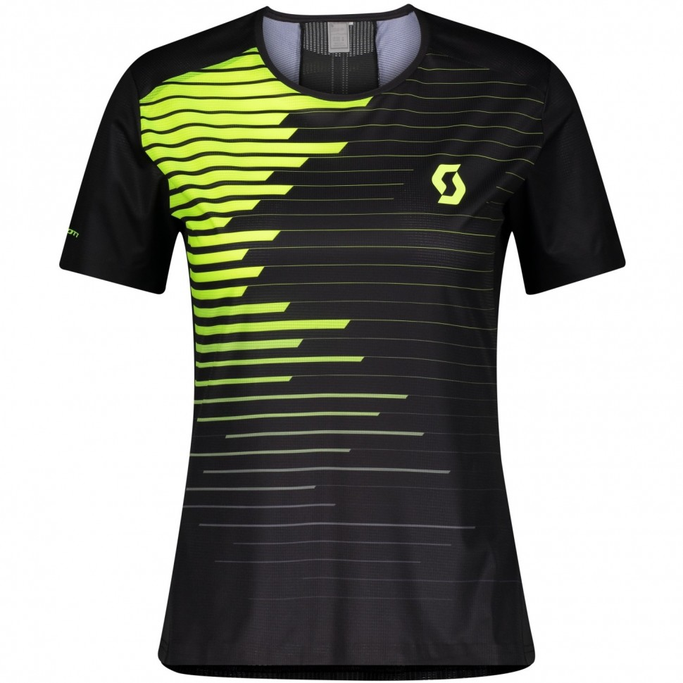Scott camiseta m/c WS RC Run Black/Yellow Mujer
