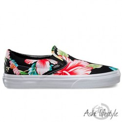 VANS CLASSIC SLIP-ON (HAWAIIAN FLORAL) V0MEFFZ BLACK