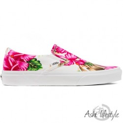VANS CLASSIC SLIP-ON (HAWAIIAN FLORAL) V0MEFG0 WHITE